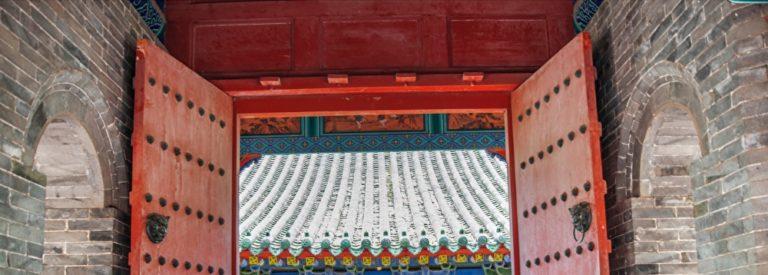 お寺の門の画像
