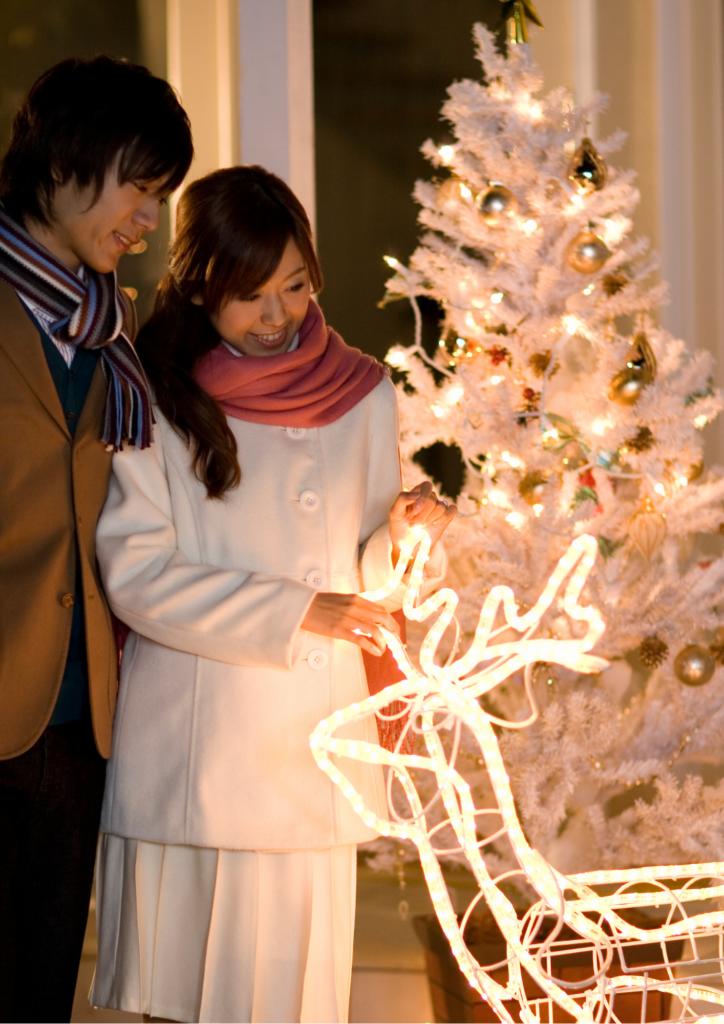 クリスマスのカップルの画像