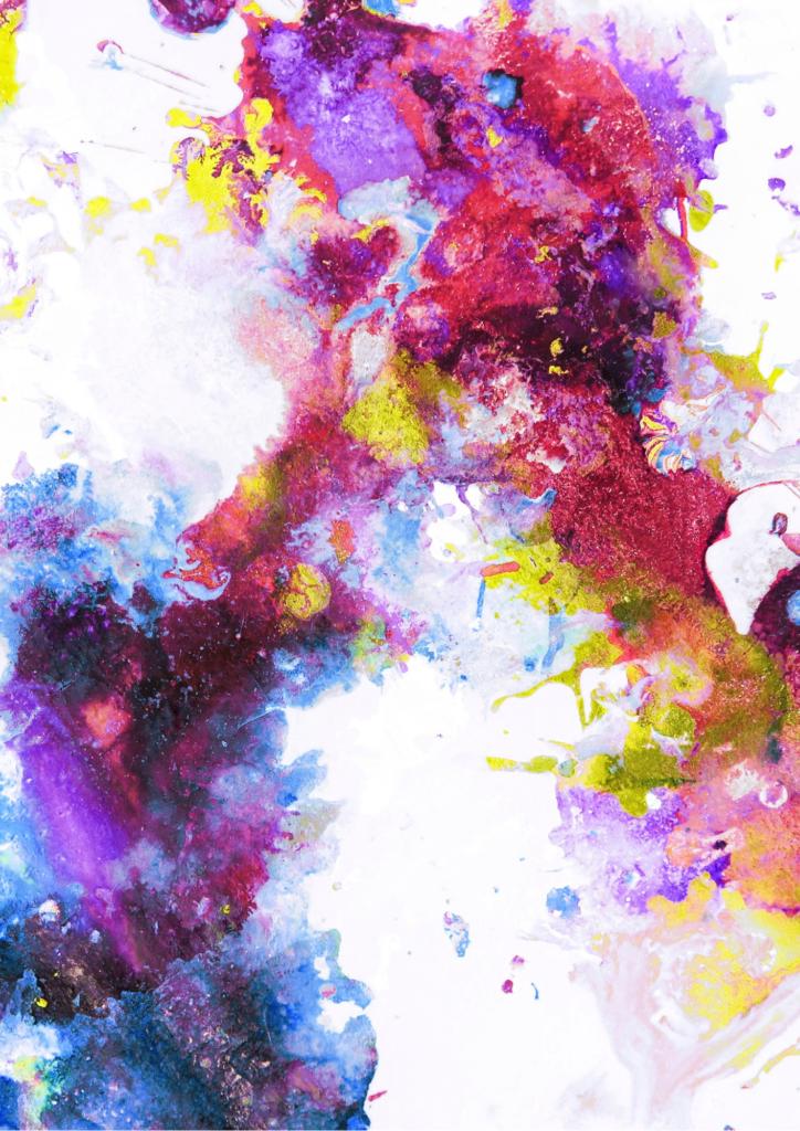 絵の具で色をつけたような画像