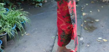 赤い浴衣の画像